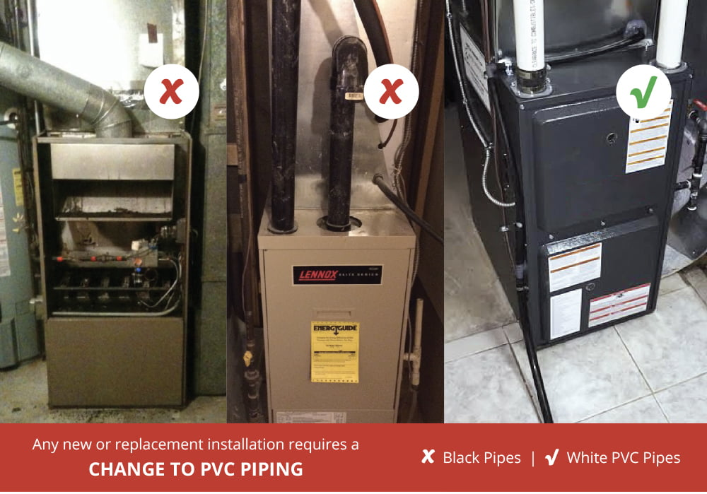 Change to PVC Piping Image - Why Rent AC, Water Heater or Furnace